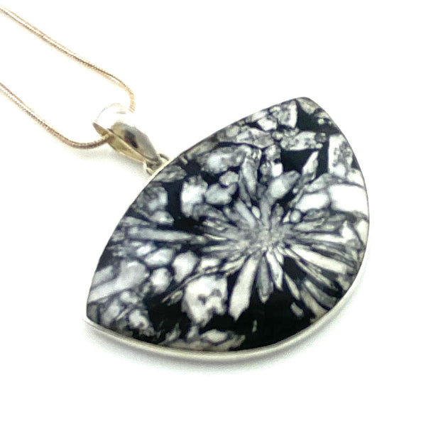 Chrysanthemum Sterling Silver Pendant - Keja Designs Jewelry