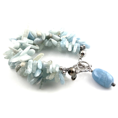Aquamarine Sterling Silver Bracelet - Keja Designs Jewelry