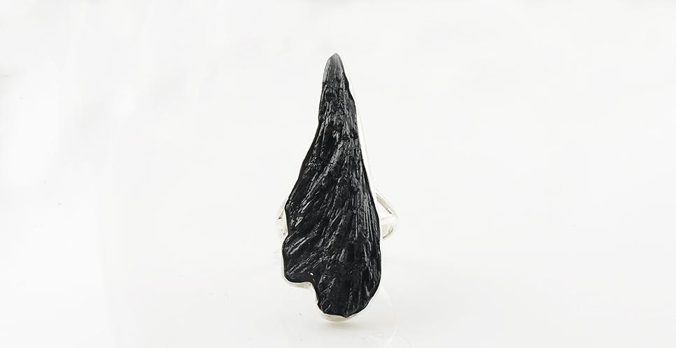 Black Kyanite Rough Ring