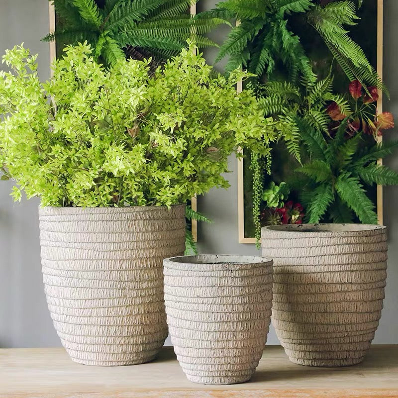 Layered Pattern Magnesium Planter