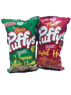 ***NEW Gibble's® Cheese Puffys NIBBLER (4-8OZ BAGS)