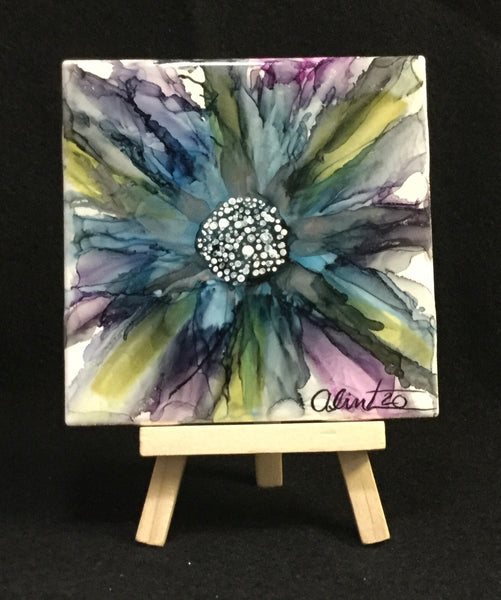 Display Tile - Abstract Flower #102