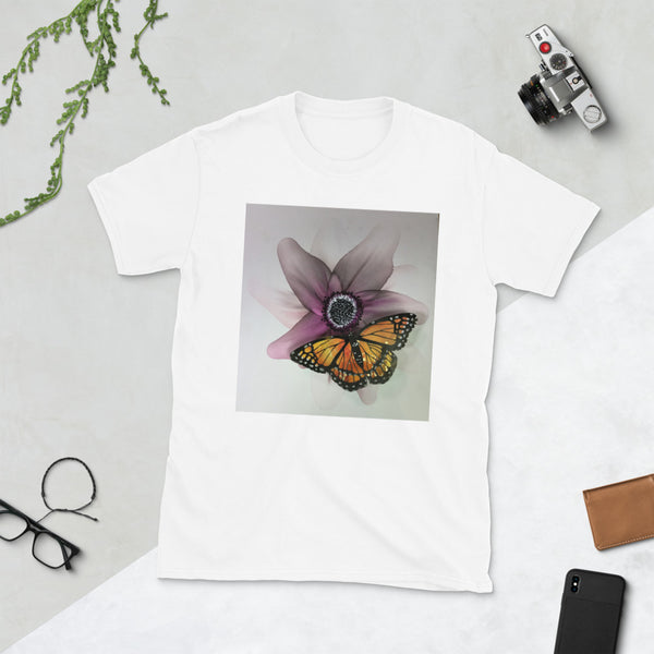T-Shirt - Plum Flower with Butterfly