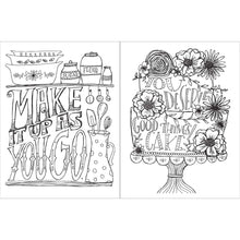 Load image into Gallery viewer, Don't Worry Eat Cake Adult Coloring Book and Mindfulness