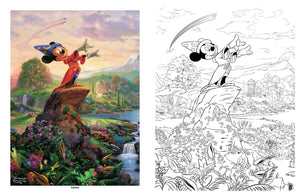 Disney Adult Coloring Books Thomas Kinkade Studios