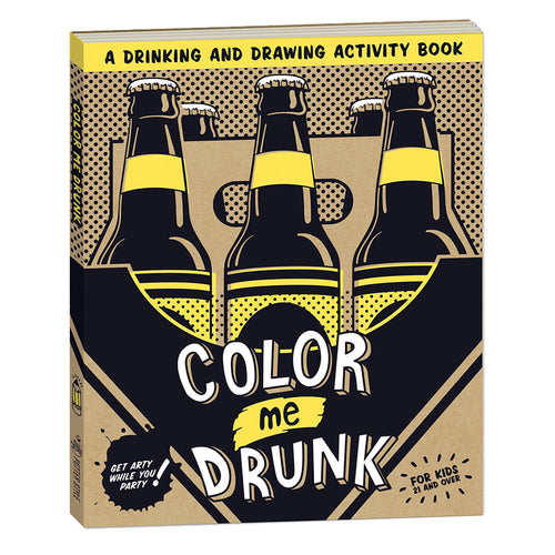 Color Me Drunk Drinking and Drawing Activity Book Adult Coloring Book Colourly