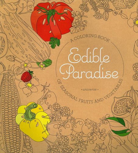 Edible Paradise Adult Coloring Book Food and Mindfulness