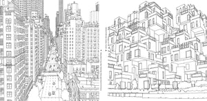 Fantastic Cities: Amazing Places Real and Imagined Adult Coloring Book