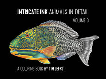 Load image into Gallery viewer, Intricate Ink Adult Coloring Book of Animals