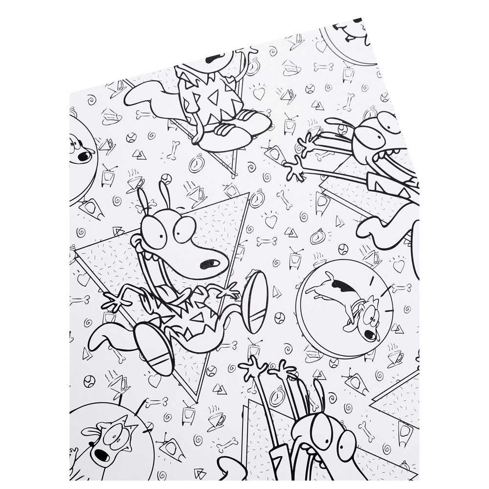 The Splat Coloring The 90s Nickelodeon Coloring Pages Colourly