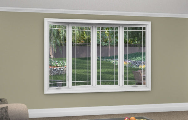 4 Lite Bow Window - Installed - Home Built 1978 or AFTER - Triple Pane - WindowWire