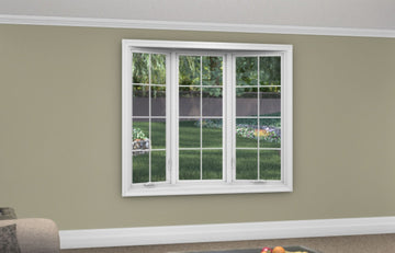 3 Lite Bow Window - Installed - Home Built 1977 or BEFORE - Triple Pane