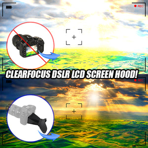CrystalClear DSLR LCD Screen Hood