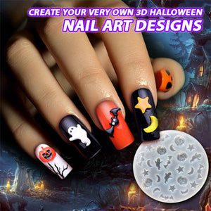 3D Halloween Nail Silicone Mold