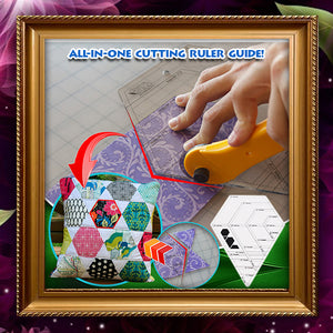 Multi-Shape 4-in-1 Patchwork Quilting Ruler