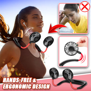 360° Hands-Free Hanging Neck Fan