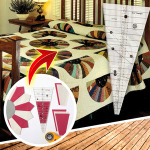 QuikMeasure 22.5° Triangular Quilting Ruler