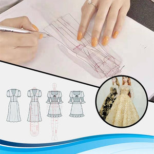 Sketch N' Style Doll Clothing Ruler Set