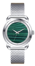 Load image into Gallery viewer, MALACHITE SILVER WHITE