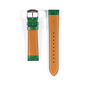 20mm Crocodile Pattern Genuine Leather Green