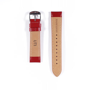 20mm Genuine Leather Red