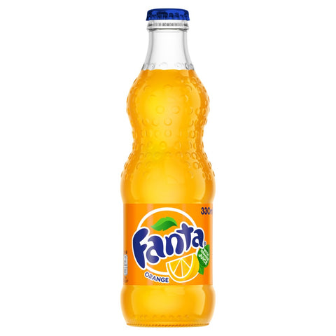 4 X Orange fanta 330ml orignal glass bottles