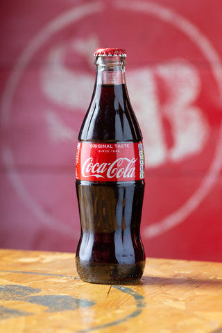 4 X Authentic Coca-Cola Glass Bottles (330ml)