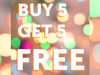 Holiday Promo- Buy 5 Get 5 FREE WORKS Washes