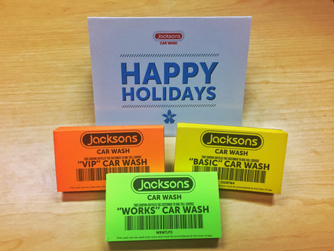Jacksons Car Wash Prepaid Wash Vouchers