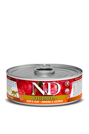 N&D Quinoa Cat Skin & Coat Herring & Coconut 2.8 oz