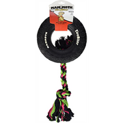 "Mammoth Tirebiter ll - XLG 7"" with Rope Dog Toy"