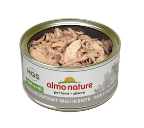 Almo Nature - HQS Natural - Tuna and Whitebait and Smelt in broth 2.47 oz / 70g