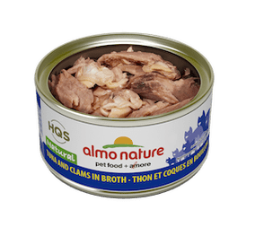 Almo Nature - HQS Natural - Tuna and Clams in broth 2.47 oz / 70g