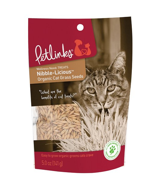 petlinks nibble-licious organic cat grass seeds