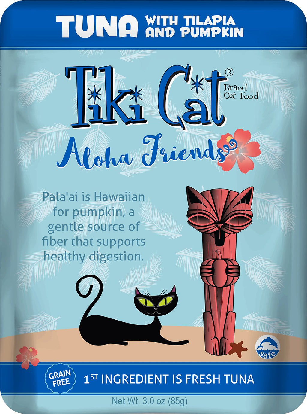 Tiki Cat - Aloha Friends Pouches - Tuna with Tilapia and Pumpkin