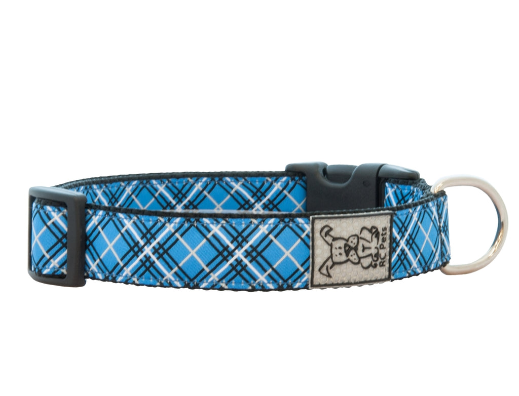 RC Pets - Clip Collar - Blue Tartan NEW