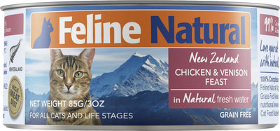 Feline Natural - Canned Cat Food - Chicken & Venison