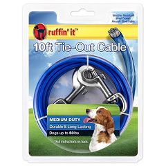 Ruffin 'it 10ft Tie - Out Cable Medium Duty  (For Dog Up To 50Lbs) SALE