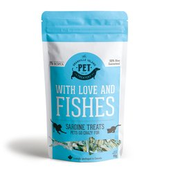Granville Island Pet Treatery - With Love and Fishes – Sardine Treats for Cats & Dogs 90g