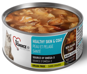 1st Choice Nutrition Canned Cat Healthy Skin & Coat Adult Salmon Flakes