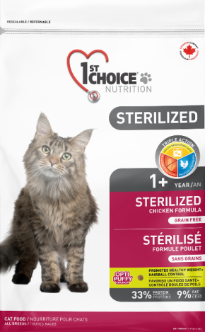 1st Choice Nutrition Grain Free Sterilized Adult Cat Chicken Formula