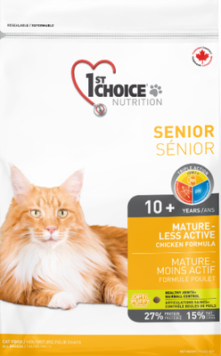 1st Choice Nutrition Mature-Less Active Senior Cat Chicken Formula