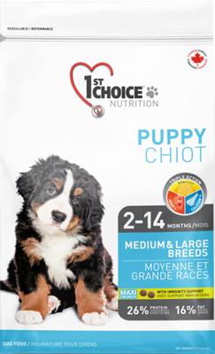1st Choice Nutrition Growth Medium and Large Puppy Chicken Formula