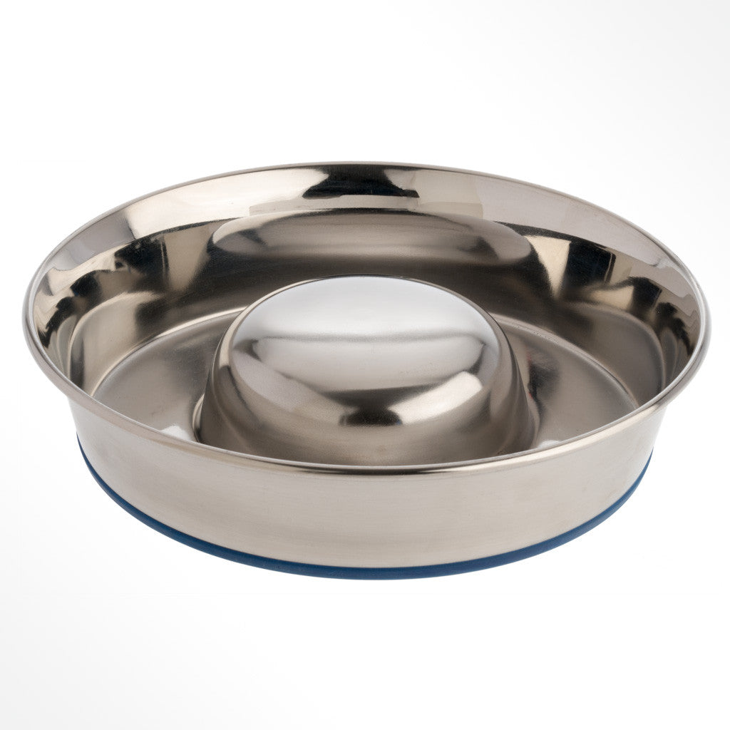OurPets - Durapet Slow Feed Stainless Steel Bowl