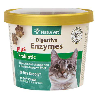 NaturVet - Digestive Enzymes for Cats