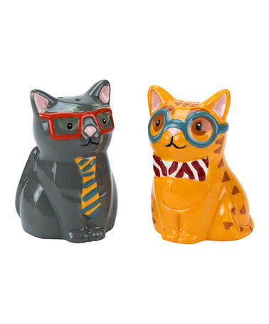Boston Warehouse - Smarty Cat Salt & Pepper Set