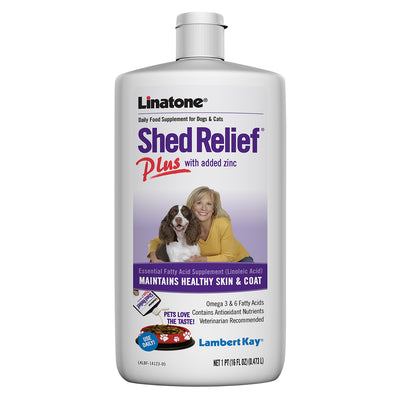 PetAg Linatone Shed Relief Plus for Dogs & Cats - 16 oz