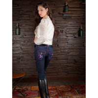 2KGrey Ava Knee Patch riding breech