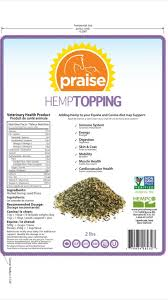 Sale! $9.99 Praise Hemp Topping for Canine and Equine