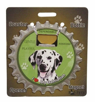 Bottle Ninja - 3 in 1 Coaster/Bottle Opener/ Magnet - Dalmation